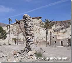 Exodus movie location in Sierra Alhamilla Almeria