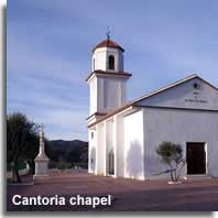 Chapel above  Cantoria village