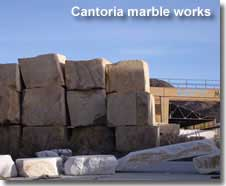 Marble works in Cantoria