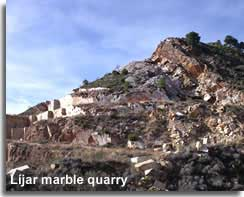 Marble extractions in Lijar in the Filabres mountains