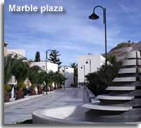 Marble plaza in Macael town