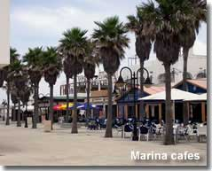 Selection of cafes at Almerimar marina