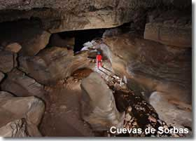 Inside one of the Sorbas caves
