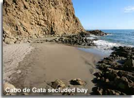 Secluded bay in the Cabo the Gata