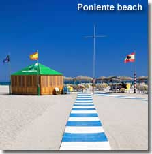 Poniente Beach in Almeria