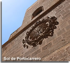 Cathedral wall with the Sol de Portocarrero