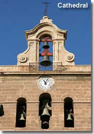 Almeria city cathedral bells and clock