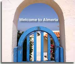 Traditional arch and gate in Almeria