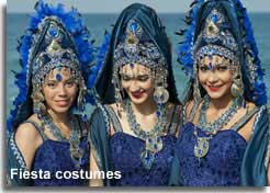 Elaborate costumes of the Moors and Christians fiesta of Mojacar