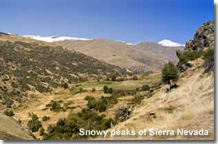 Snowy peaks of the Sierra Nevada in Andalucia