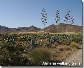 Walking trail in Almeria