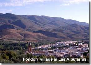 Village of Fondon in Las Alpujarras of Almeria in Andalucia