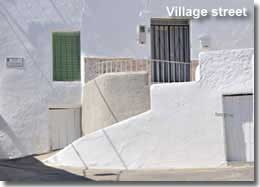 Typical Andalucian street of Nijar village in Almeria