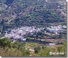 Bacares village In La Tetica valley