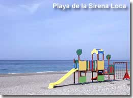 Play area on the Sirena Loca beach