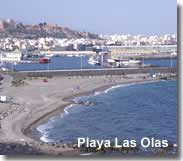 Beach of Las Olas beside Almeria port