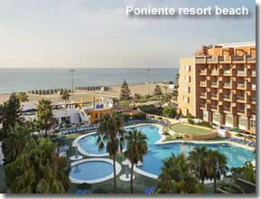 Resort beach of the Poniente coast of Almeria
