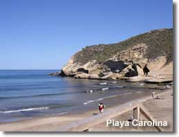 Playa Carolina on Pulpi coastline
