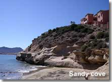 Sandy cove at San Juan de los Terreros