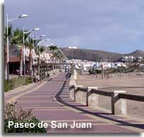 Promenade beside the San Juan beaches