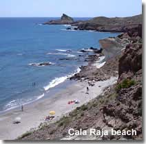 Cala Raja beach and coastline
