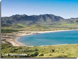 Genoveses beach and the Morron de Genoveses