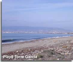 Natural beach of Torre Garcia in the Cabo de Gata