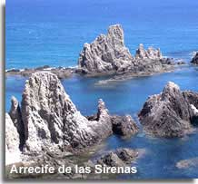 Sirens reef and rock formations