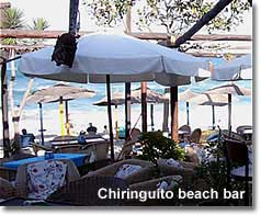 Chiringuito beach bar on Mojacars Cantal beach