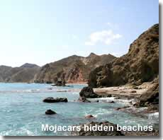 Mojacar coastline and hidden beaches