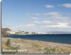 Macenas beach with views to Mojacar