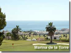 Golf course overlooking the Marina de la Torre beach