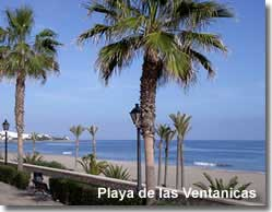 Playa del la Ventanicas with views up Mojacars coastline