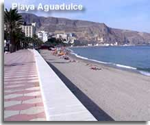 Beach and promenade at Aguadulce