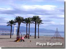 Sports and play area on Bajadilla beach
