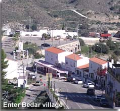 Bedar tapas bars and village entrance point