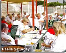 Mojacar bowls club paella saturday