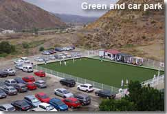Mojacar bowling club green and car park
