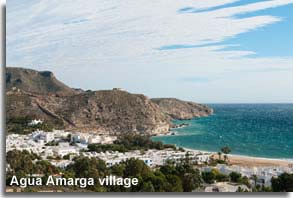 Andalucian village of Agua Amarga in the Cabo de Gata of Almeria.