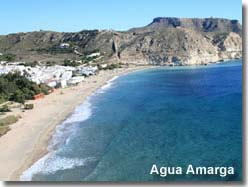 Agua Amarga village and beach.