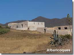 Albaricoques village buildings and landscape