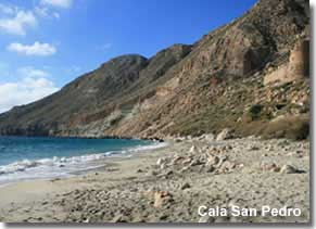 San Pedro cove in the Cabo de Gata Natural Park