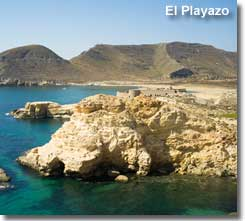 El Playazo beach and San Ramon castle