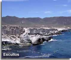 Escullos coastline and rock formations