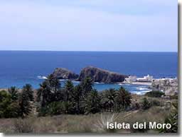 Views toward Isleta del Moro in the Cabo de Gata Natural Park