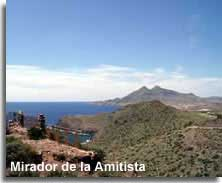 View from and the Mirador de la Amitista
