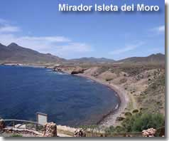 views of and from mirador Isleta del Moro
