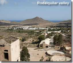 Valley of Rodalquilar in the Cabo De Gata