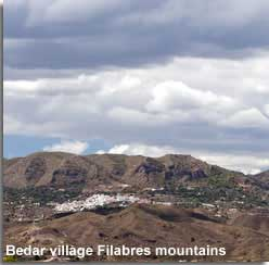 Bedar village in the Filabres mountain setting