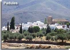Padules village on the GR142 walking route in the Alpujarras of Almeria in Andalucia